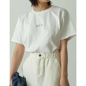 ロゴが選べるオーガニックコットンフレンチスリーブTシャツ (ロゴオフホワイト)