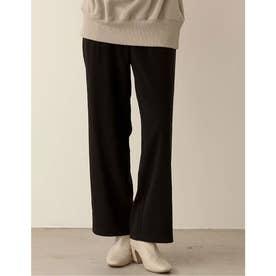 [高身長向けMサイズ対応][お家で洗える]ツイルストレートスラックスパンツ (ブラック)