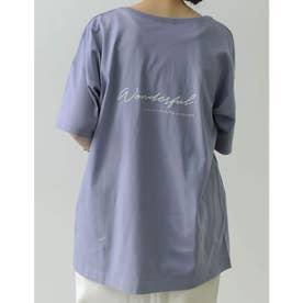 [ユニセックス/親子ペア/キッズサイズ/I.W.U(アイダブリュー)]USAコットンバックロゴ半袖Tシャツ (ブルー)