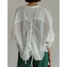 ギャザースリーブシアードロストシャツ (オフホワイト)