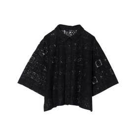 タイルレースシャツ (ブラック)