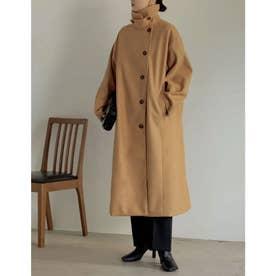 [神山まりあさん着用][低身長サイズ有]3WAYフェイクウールロングステンカラーコート (イエロー)