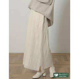 [サステナブル][低身長向けSサイズ対応]バルキーニットケーブルタイトスカート (アイボリー)