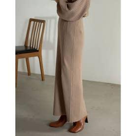 [低身長サイズ有]サイドリブニットタイトスカート (ベージュ)