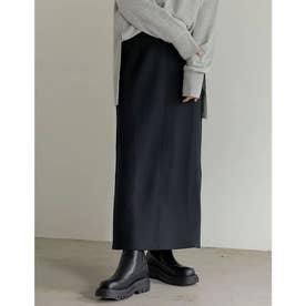 [低身長サイズ有]ダンボールマキシナロースカート (ブラック)