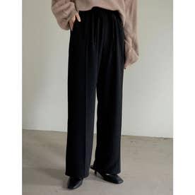 [神山まりあさん着用][低身長/高身長サイズ有]ピンタックカラードロストパンツ (ブラック)