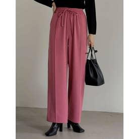 [神山まりあさん着用][低身長/高身長サイズ有]ピンタックカラードロストパンツ (ピンク)
