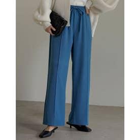 [神山まりあさん着用][低身長/高身長サイズ有]ピンタックカラードロストパンツ (ブルー)