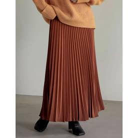 [低身長サイズ有]カラープリーツスカート (オレンジ)