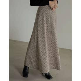 [低身長サイズ有]ジャガードニットソーマーメイドスカート (ベージュ)
