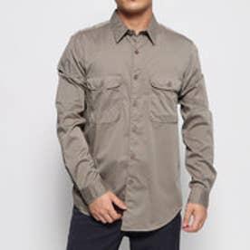 パイピングデザインシャツ (ベージュ)