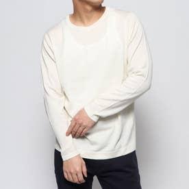 ウールクルーネックセーター (ホワイト)