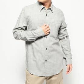 スタンダードカラーカジュアルシャツ (グレー)
