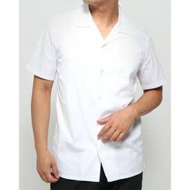 オープンカラー半袖シャツ (ホワイト)