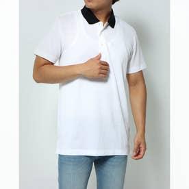 衿バイカラーポロシャツ (ホワイト×ブラック)