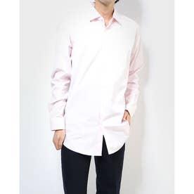 ブラックボタンシンプルシャツ (ベビーピンク)