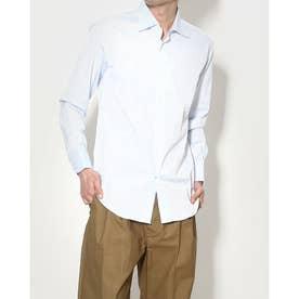 ストライプボタンドレスシャツ (サックス)