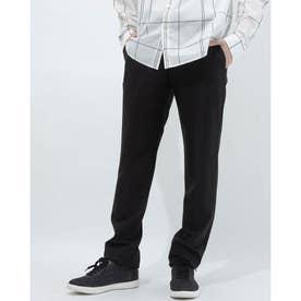 日本製シンプルスラックス風パンツ (ブラック)