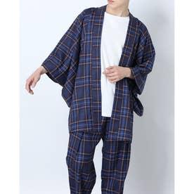 タータンチェック羽織 (ネイビー)