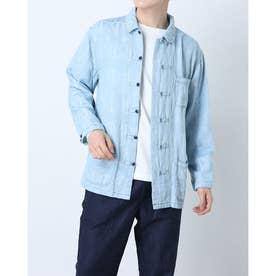 ボタンダウンコットンシャツ (ブルー)