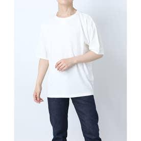 コットンストレッチラウンドネックTシャツ (ホワイト)