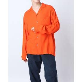 ギンガムチェックシャツ (オレンジ)