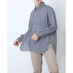 ギンガムチェックシャツ (ネイビー)