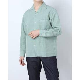 マルチポケットハマカラー長袖シャツ (オリーブ)