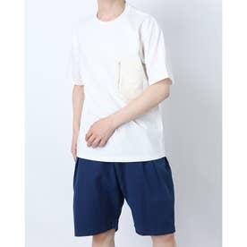 ジップポケットコットンTシャツ (ホワイト)