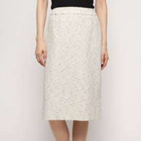 ツイードタイトスカート (ホワイト)