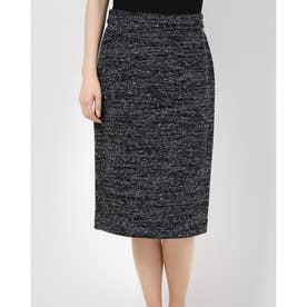 ツイードタイトスカート (ブラック)