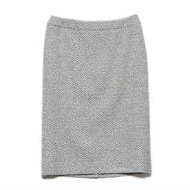 きれい目タイトスカート (ホワイト×ブラック)