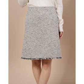 フリンジあしらいタイトスカート (マルチカラー)
