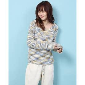 裾絞りポートネックセーター (マルチ)