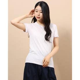 ラウンドネックシンプルTシャツ (ライトグレー)