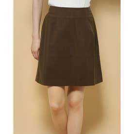 バックジッパー スカート (カーキ)