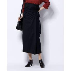 ハイウエストデザインスカート (ネイビー)