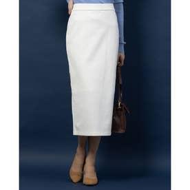 バックギャザータイトスカート (ホワイト)