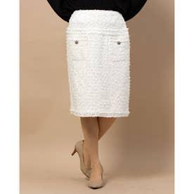 ツイードフロントポケットスカート (ホワイト)
