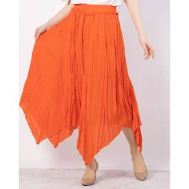 シャーリングロングスカート (オレンジ)