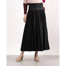 ロングプリーツラップスカート (ブラック)