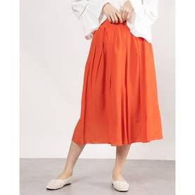 タックギャザースカート (オレンジ)