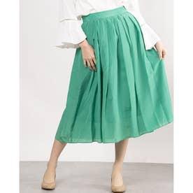 タックギャザースカート (グリーン)