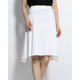 日本製リネンボックススカート (ホワイト)