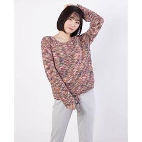 裾絞りポートネックセーター (マルチカラー)