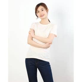 ラウンドネックシンプルTシャツ (ライトピンク)