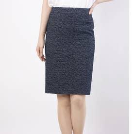 日本製ネップタイトスカート (ネイビー)