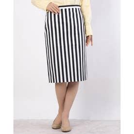ストライプタイトスカート(シロクロ)