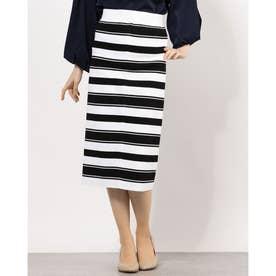 ボーダーペンシルスカート(黒×白)