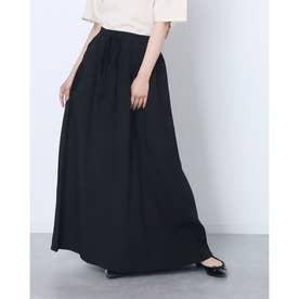 タッセルリボンロングスカート (ブラック)